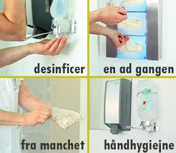 Fotogennemgang af sterilisering af handsker