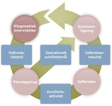Grafik af den kliniske plejeplan
