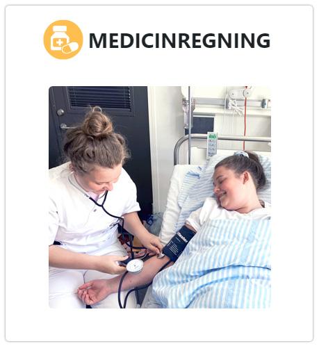 """Klik for at komme til materialet om """"Medicinregning"""""""